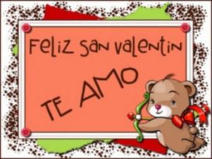Feliz San Valentin para mi pareja