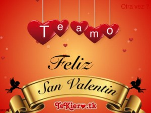 Tarjetas de amor para san Valentin-