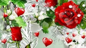 imagenes de rosas rojas con corazones